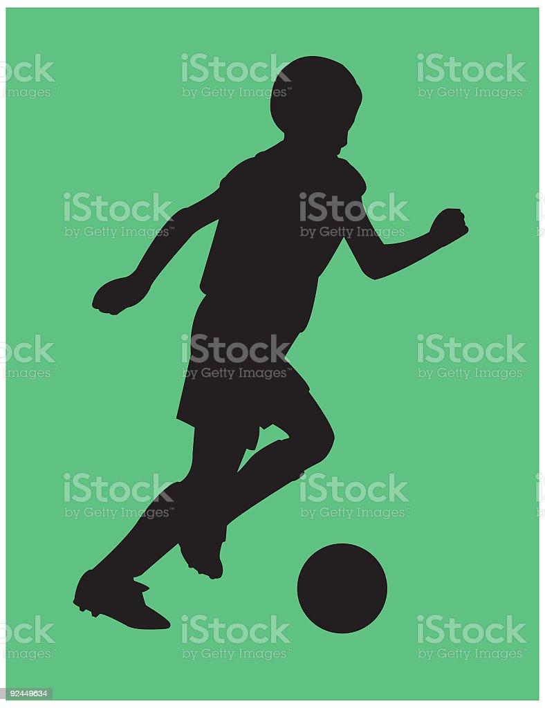 Soccer Kid royalty-free stock vector art