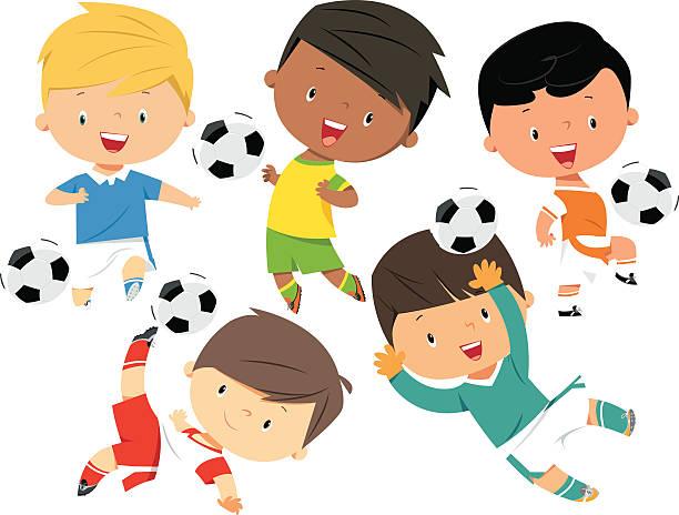 Boy Football Clip Art, Vector Images & Illustrations - iStock