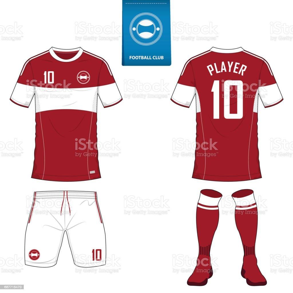 Design a t shirt kit - Soccer Kit Or Football Jersey Template For Football Club Short Sleeve Football Shirt Mock Up