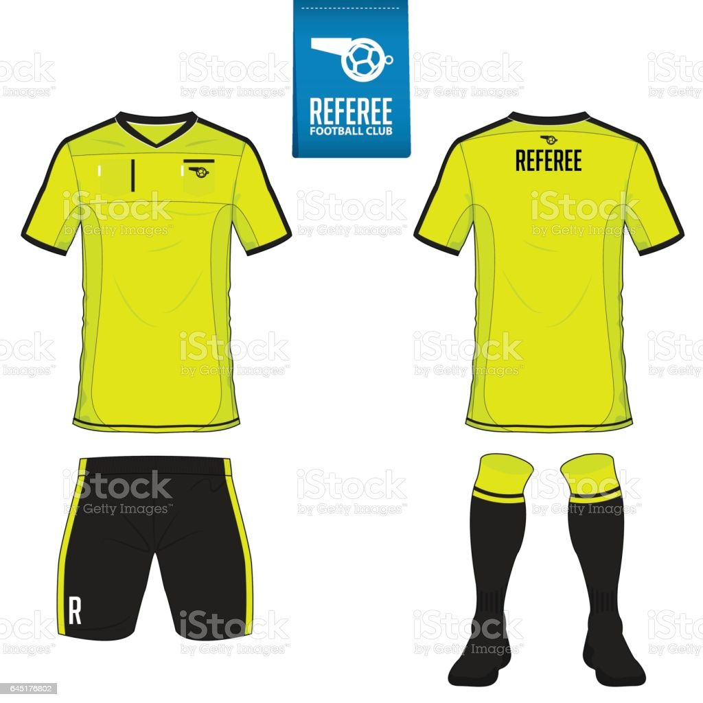 Soccer kit or football jersey template. Front and back view soccer uniform. vector art illustration