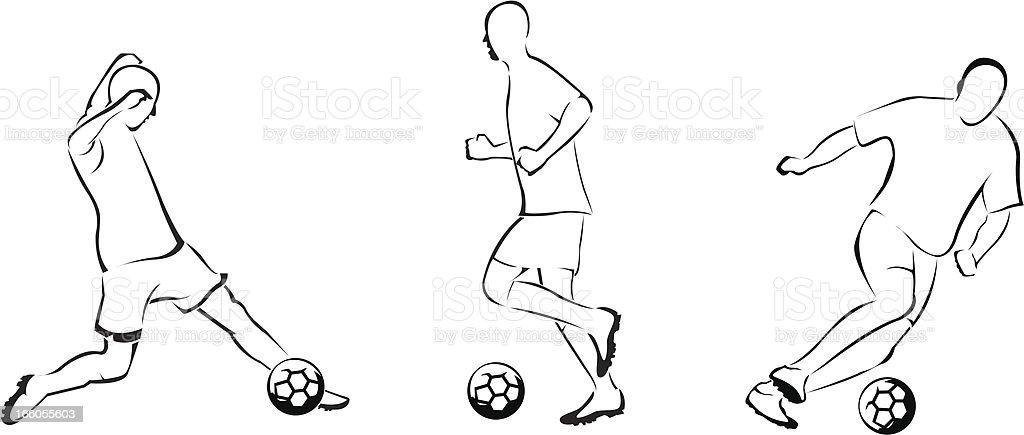 Soccer line royalty-free stock vector art