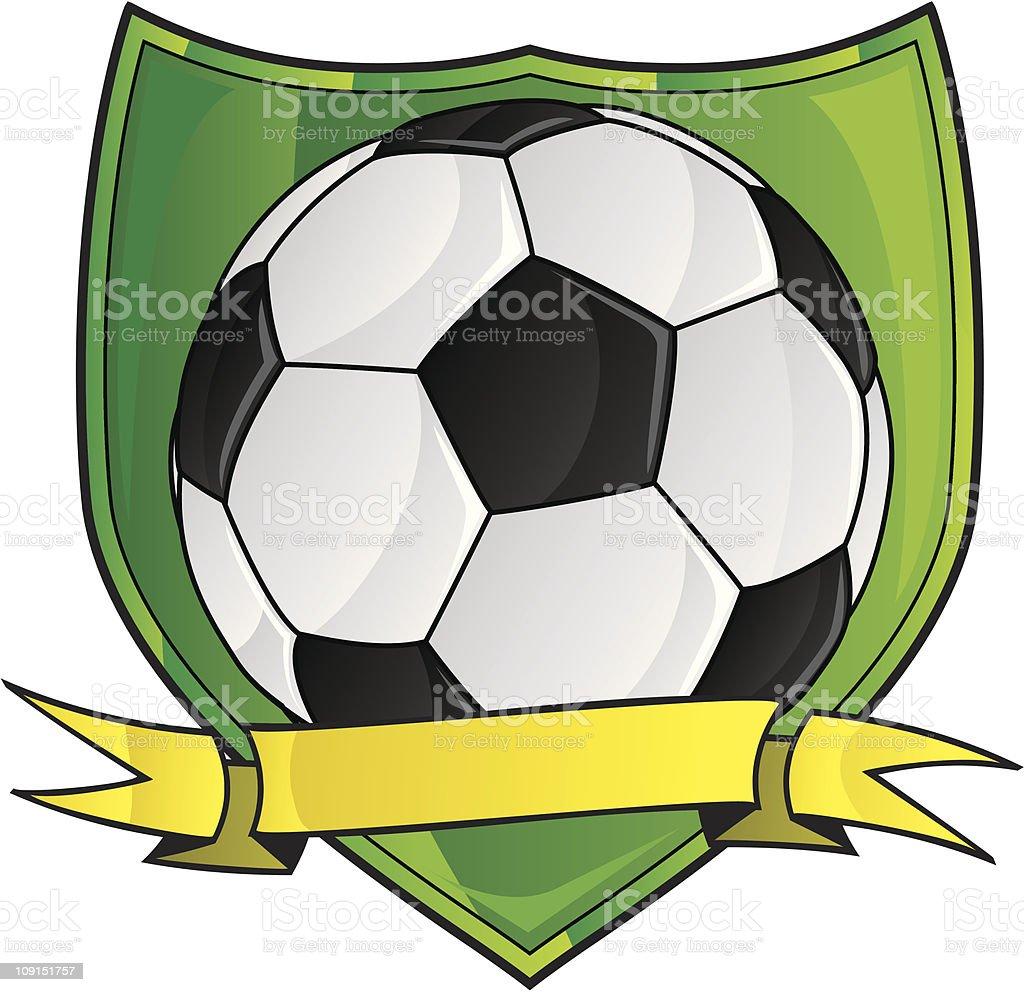 soccer logo vector art illustration