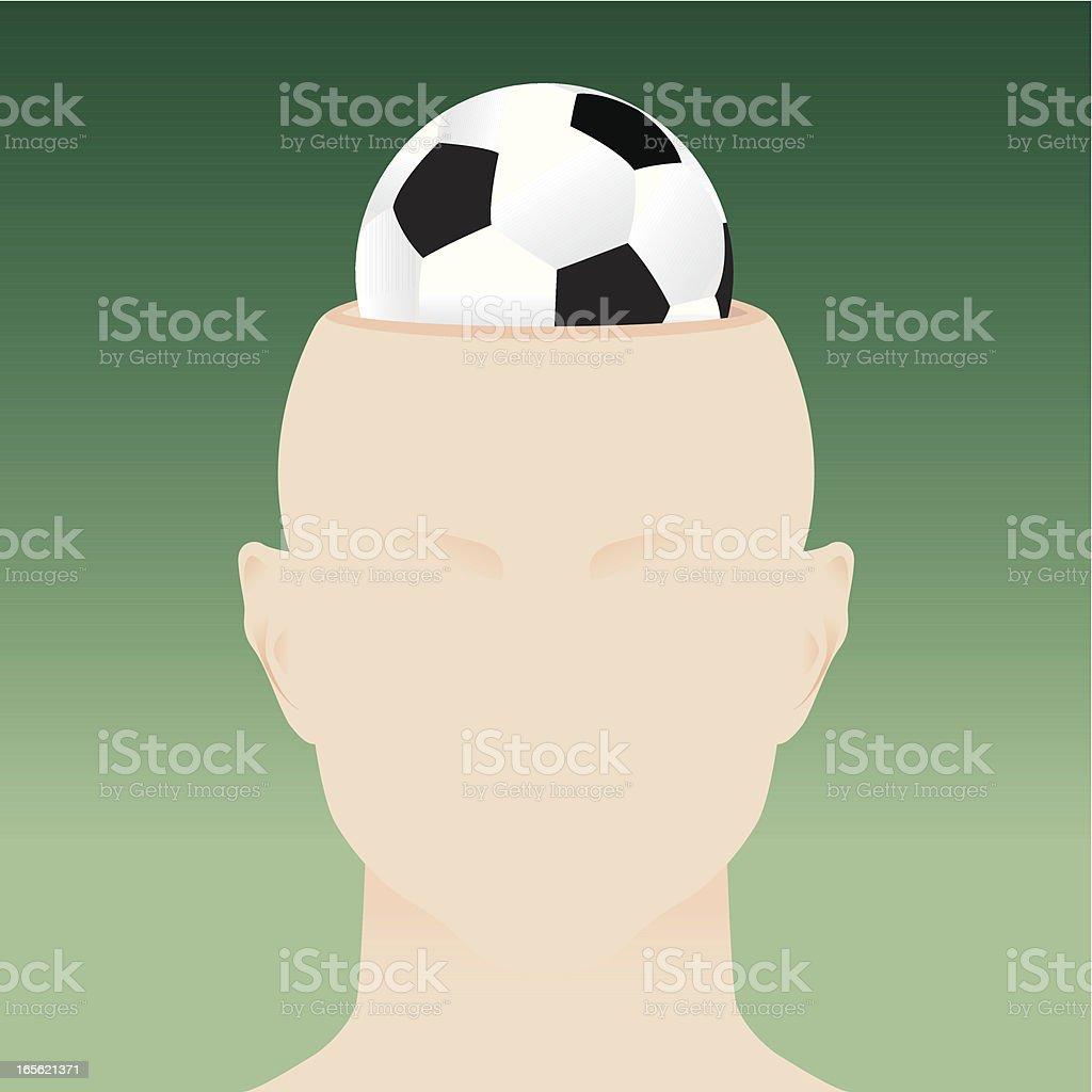 Soccer lover vector art illustration