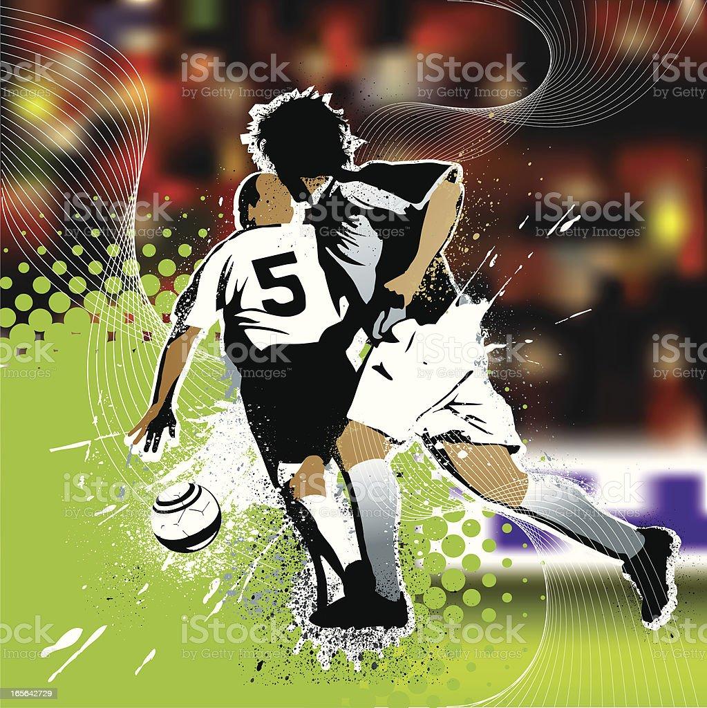 Soccer match royalty-free stock vector art