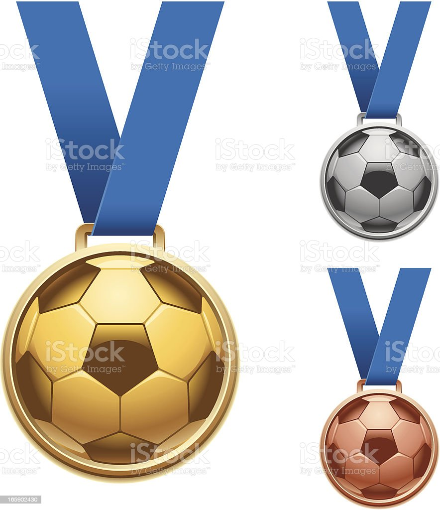 Soccer Medals royalty-free stock vector art
