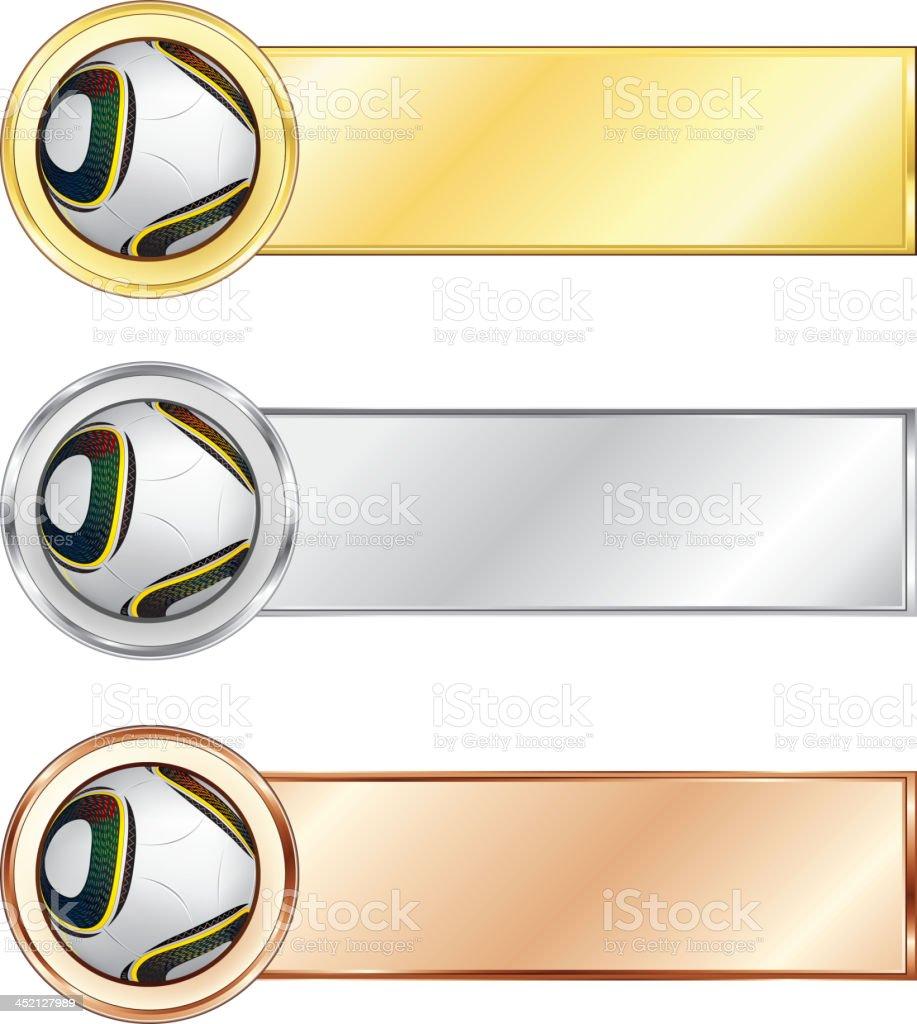 Soccer medals royalty-free stock vector art