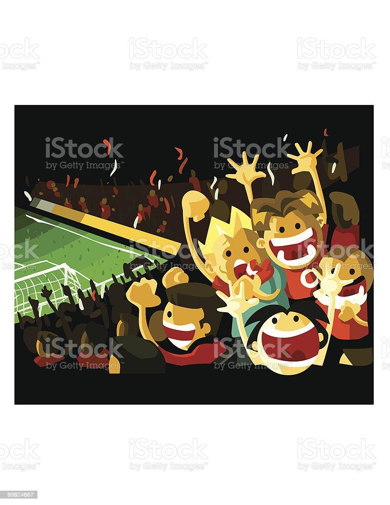 Soccer night Final match ! royalty-free stock vector art