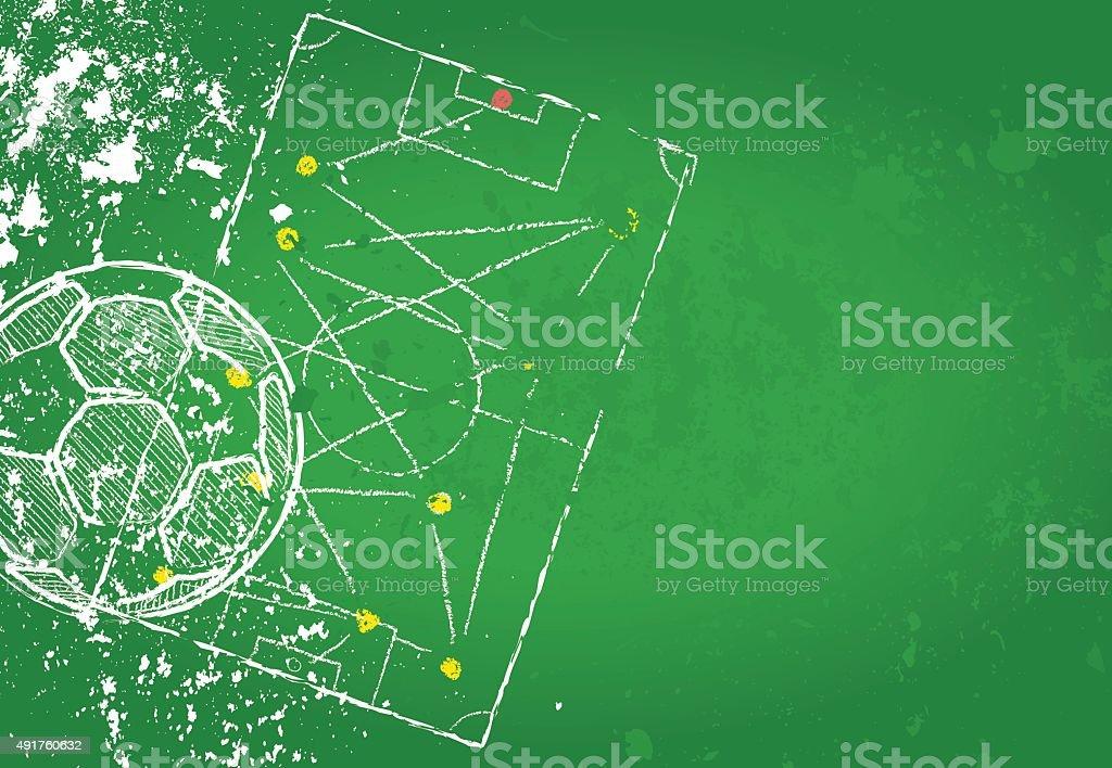Soccer or Football design template vector art illustration