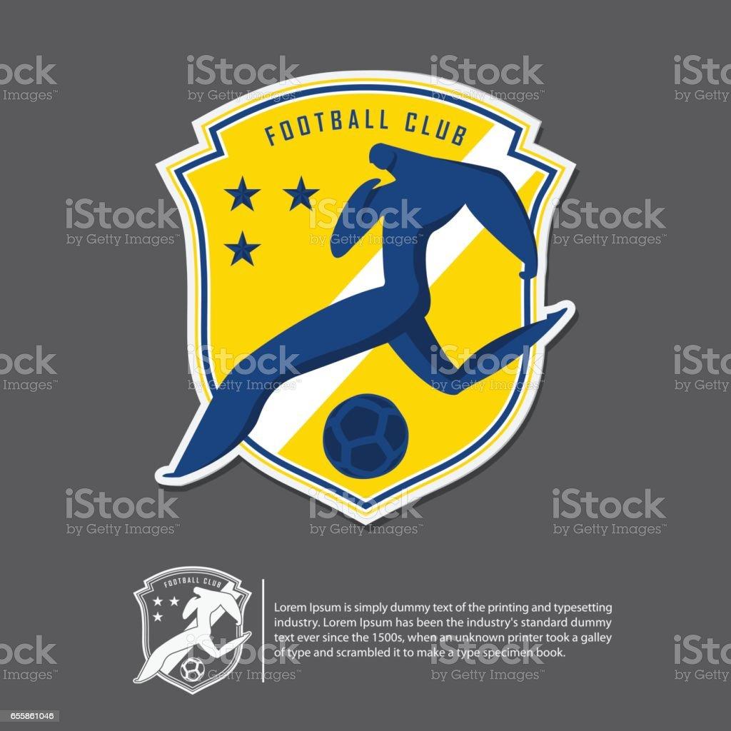 Soccer or football in flat design. Sport team identity template. vector art illustration