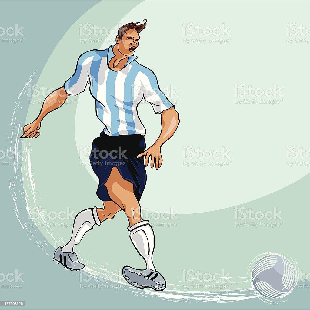 Soccer Passing Blue Stripe vector art illustration