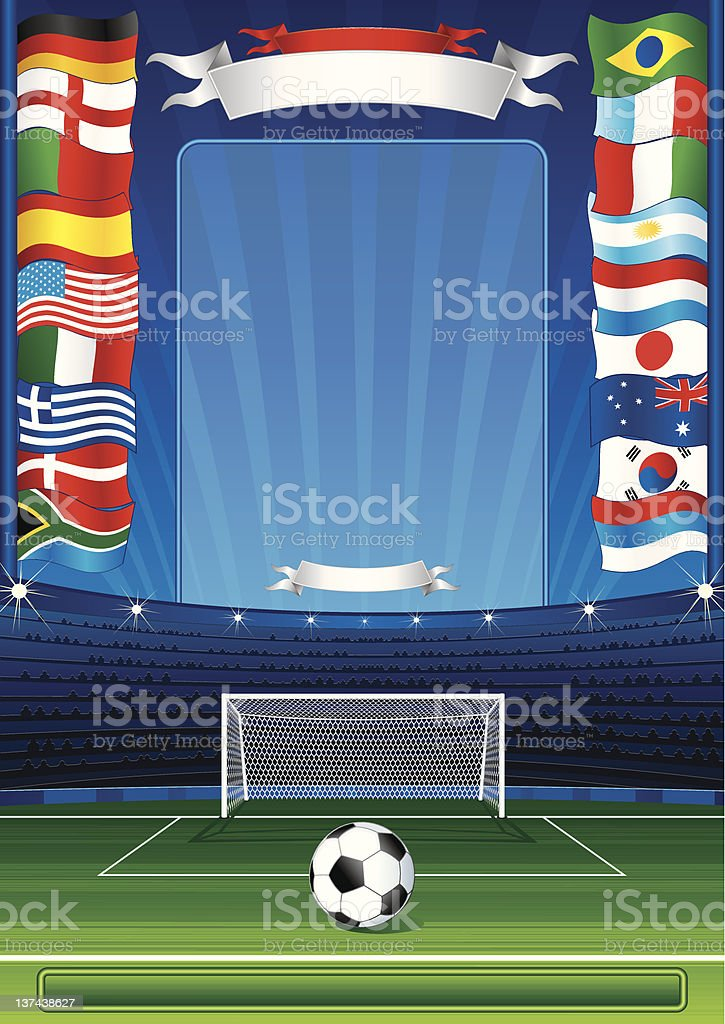 Soccer placard royalty-free stock vector art