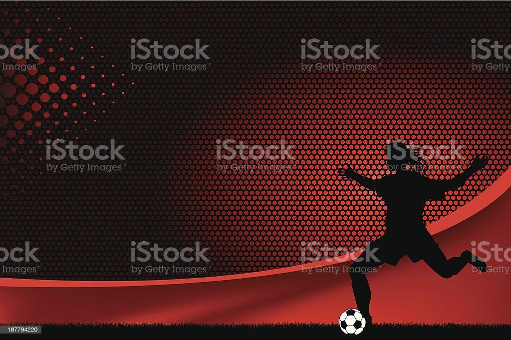 Soccer Player Background - Girls royalty-free stock vector art
