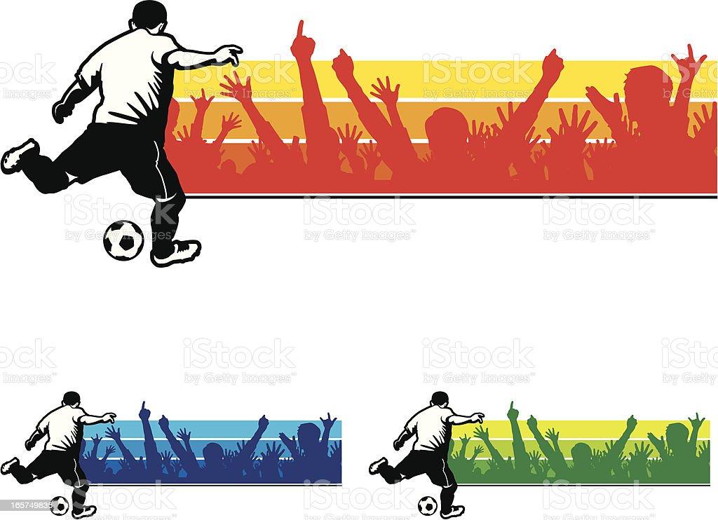 Soccer Player Banner royalty-free stock vector art