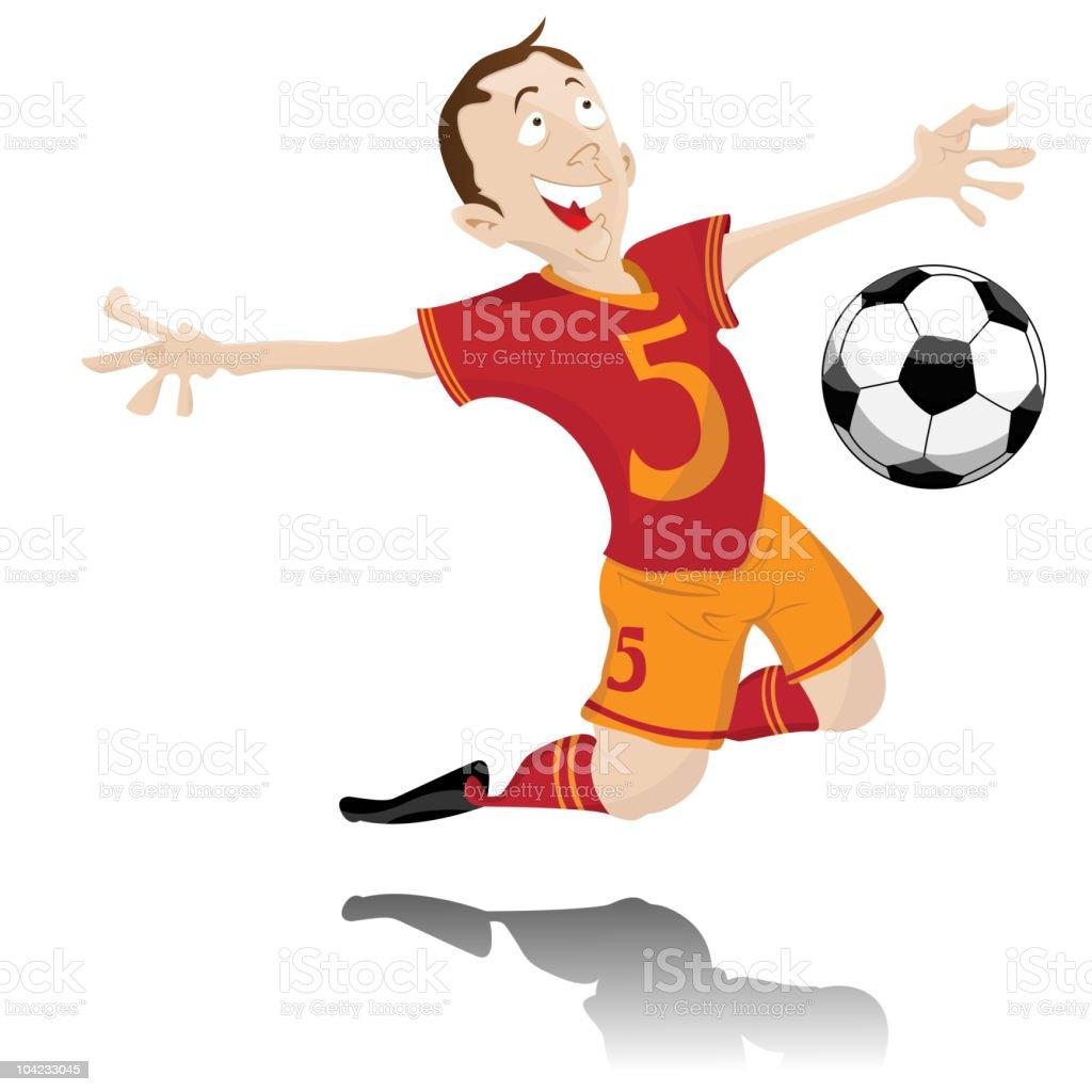 Soccer Player Celebrating Goal. royalty-free stock vector art