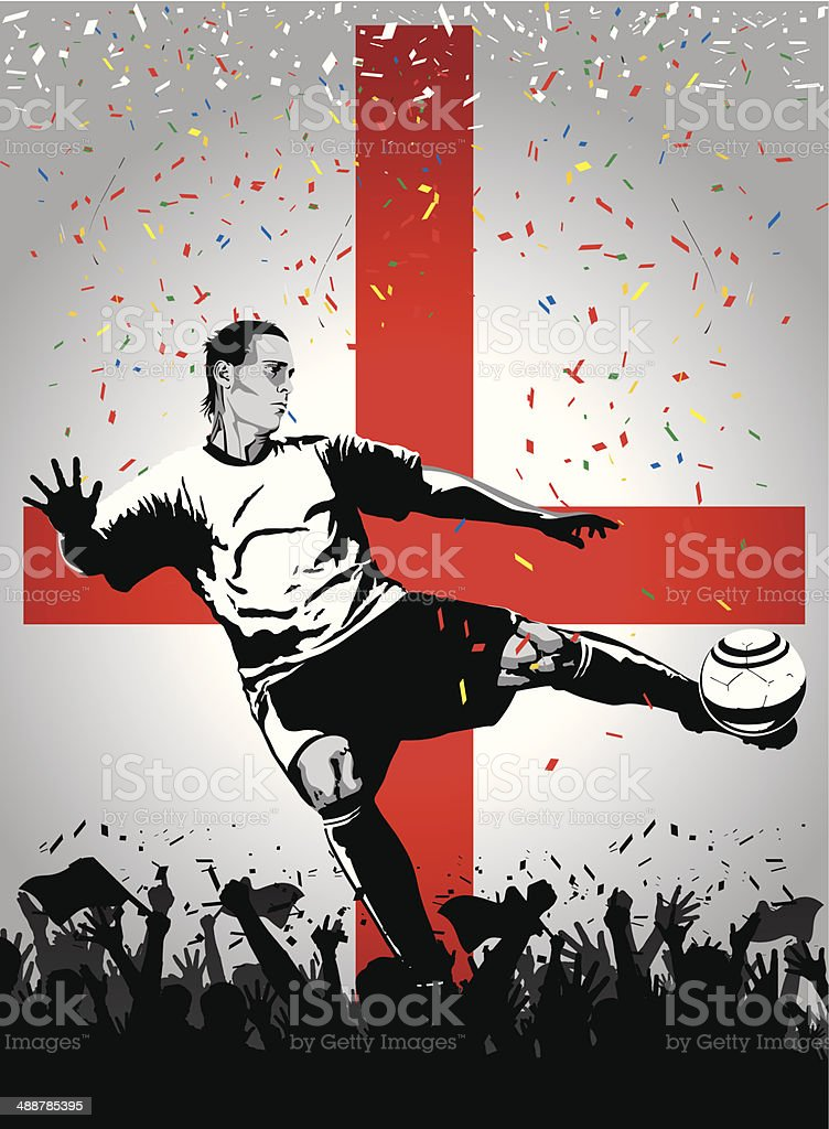Soccer player England royalty-free stock vector art
