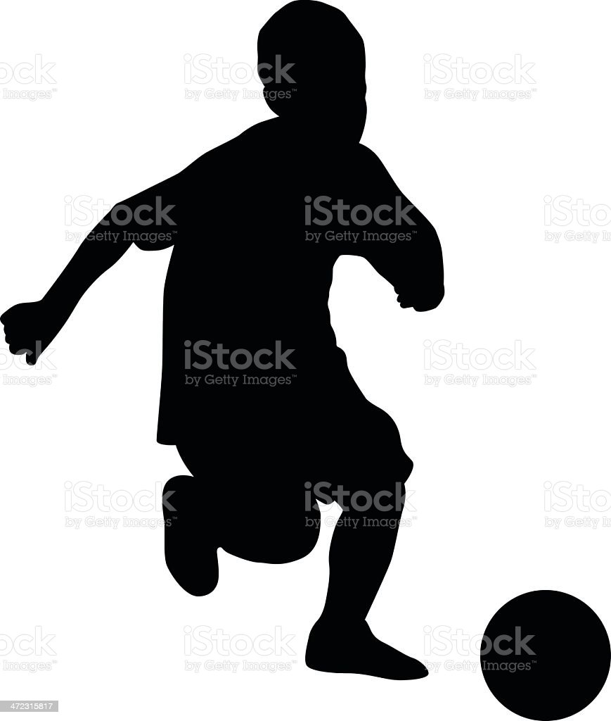 soccer player kids royalty-free stock vector art