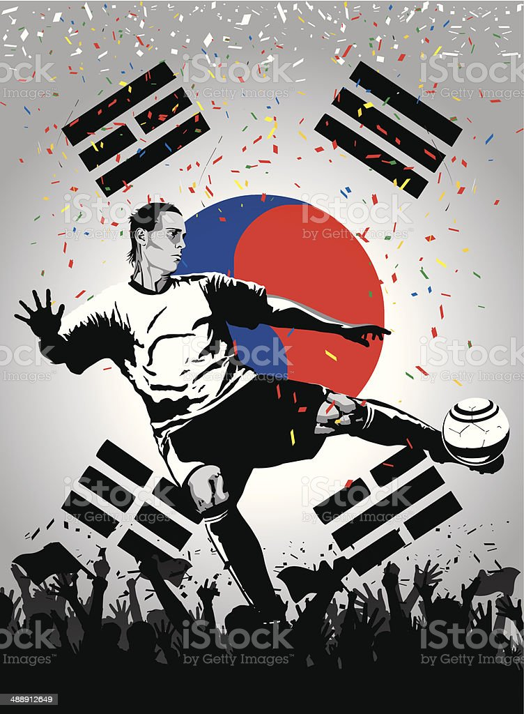 Soccer player Korea royalty-free stock vector art
