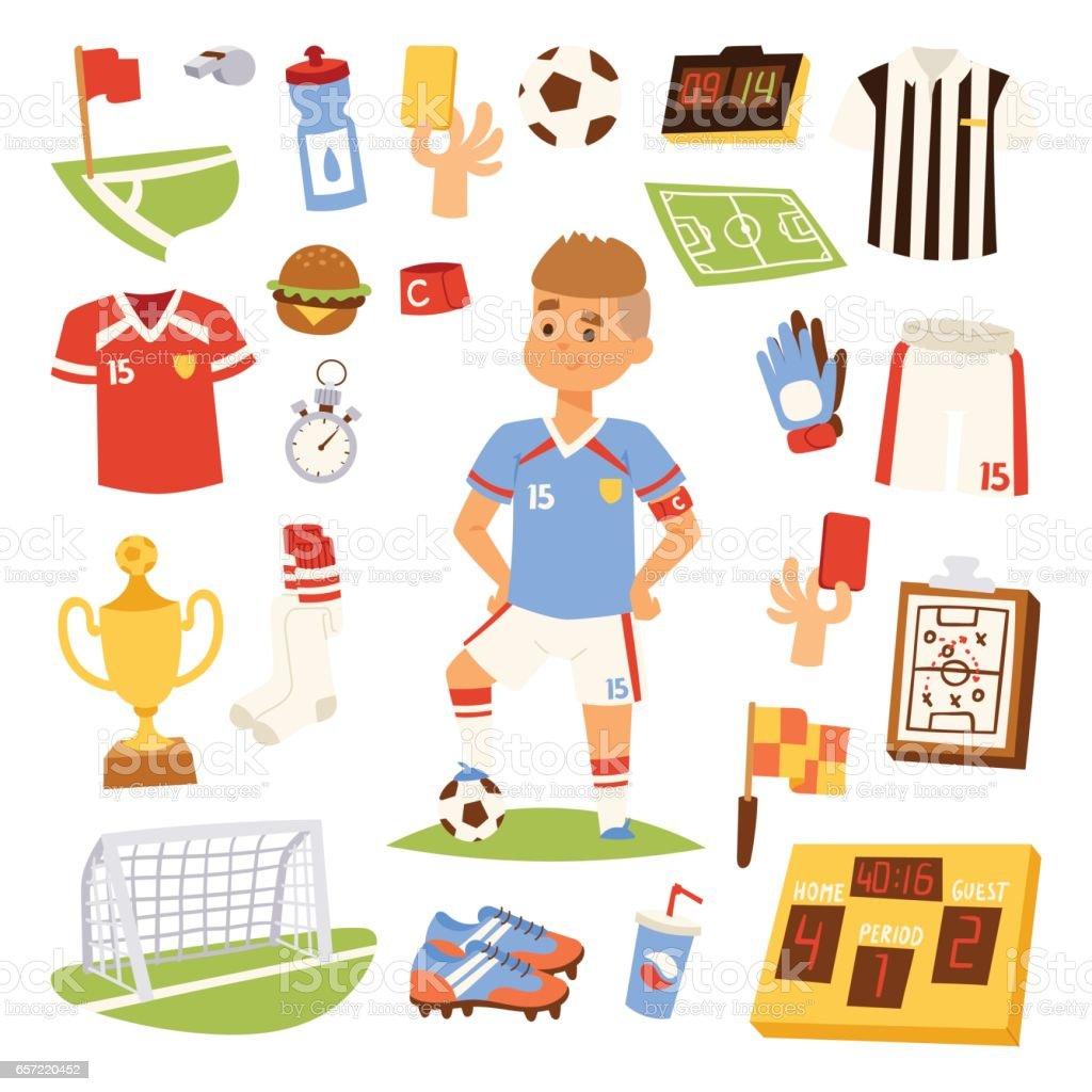 Soccer player man icons vector illustration vector art illustration