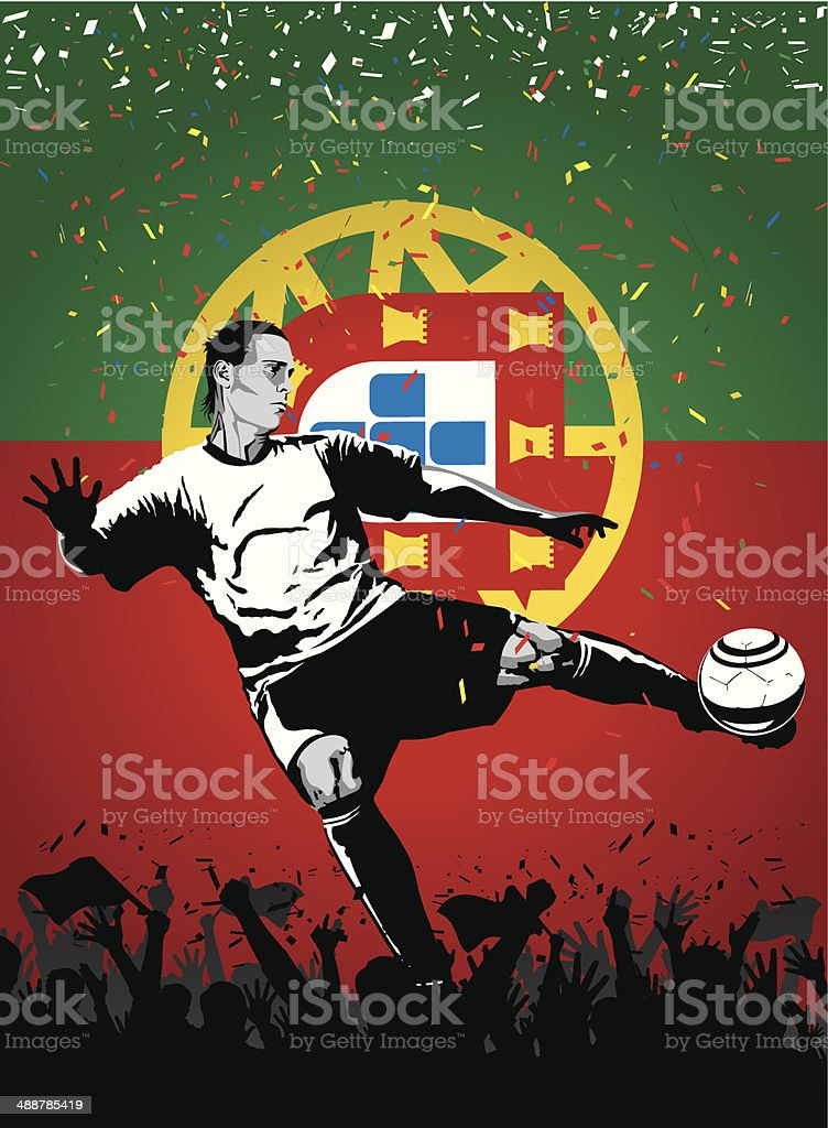 Soccer player Portugal royalty-free stock vector art