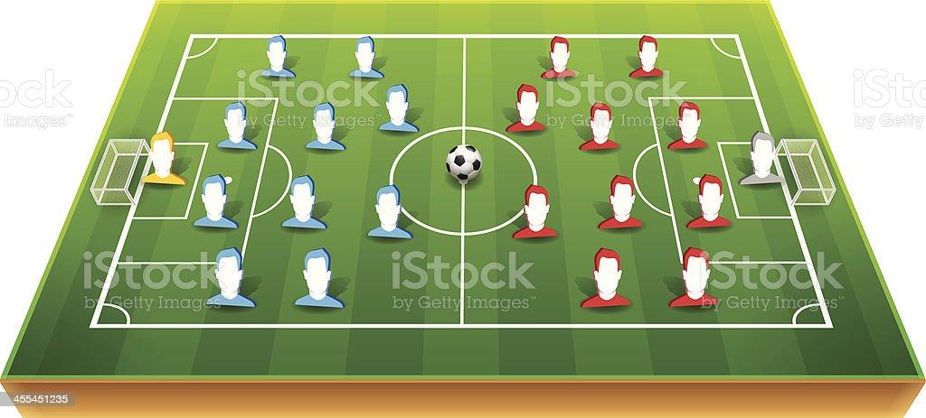 Soccer Player Positions vector art illustration