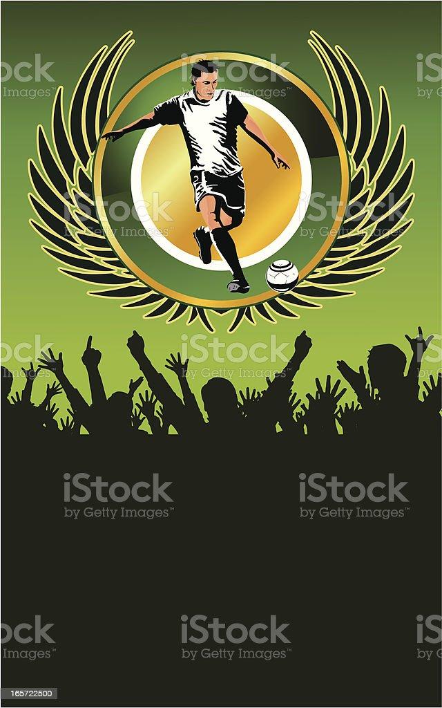 Soccer player poster kick royalty-free stock vector art