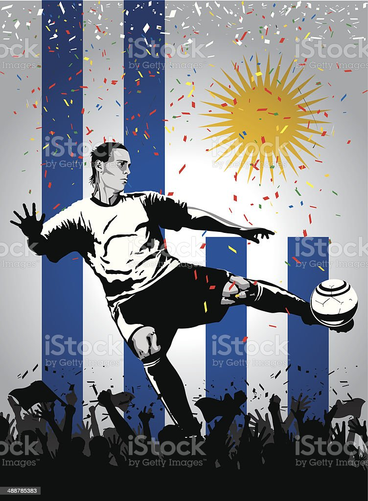 Soccer player Uruguay royalty-free stock vector art