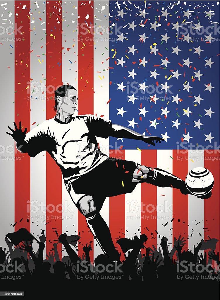 Soccer player USA royalty-free stock vector art