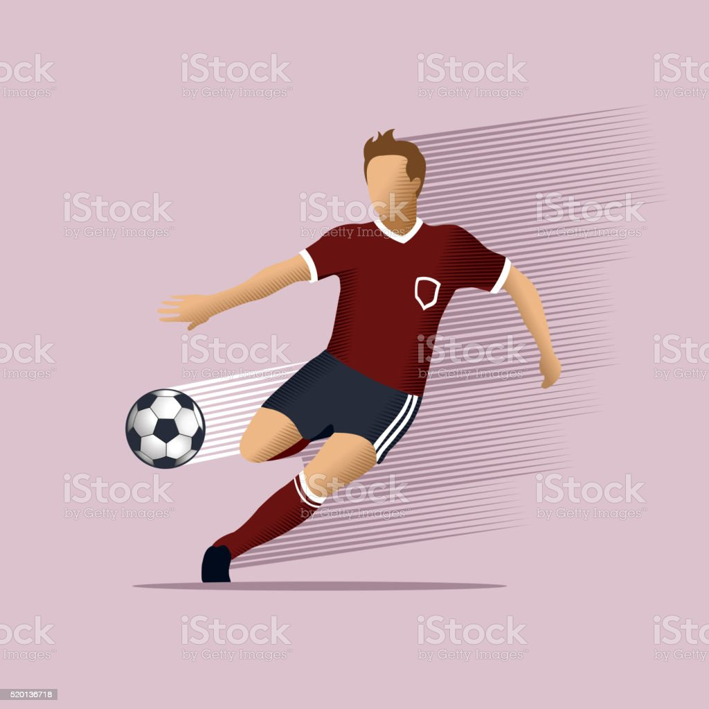 Soccer player vector art illustration