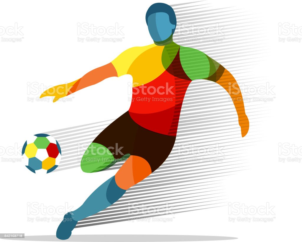 Soccer player vector art illustration