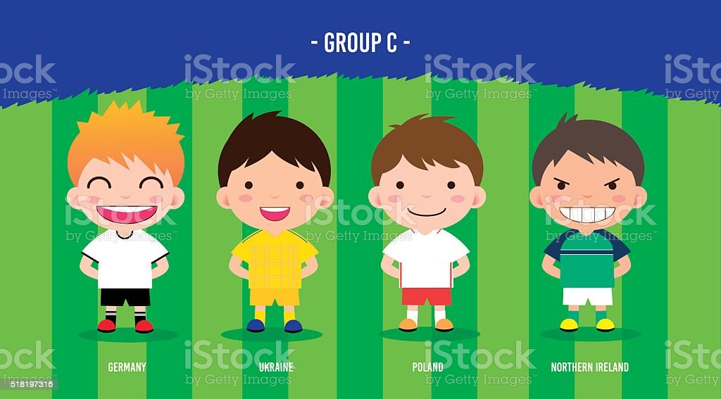 soccer players euro 2016 royalty-free stock vector art