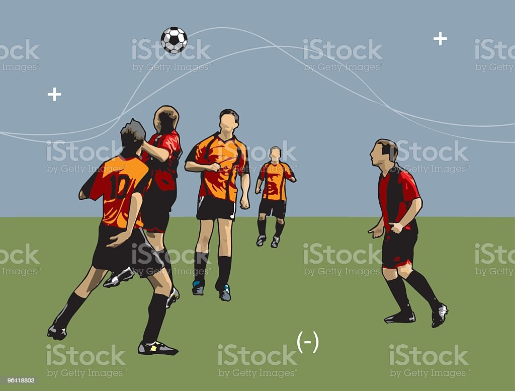 Soccer players (vector) royalty-free stock vector art