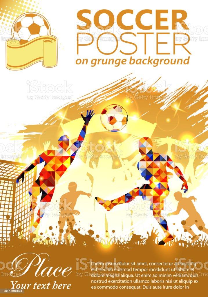 Soccer Poster vector art illustration