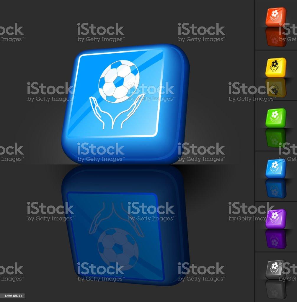 soccer praise 3D button design royalty-free stock vector art
