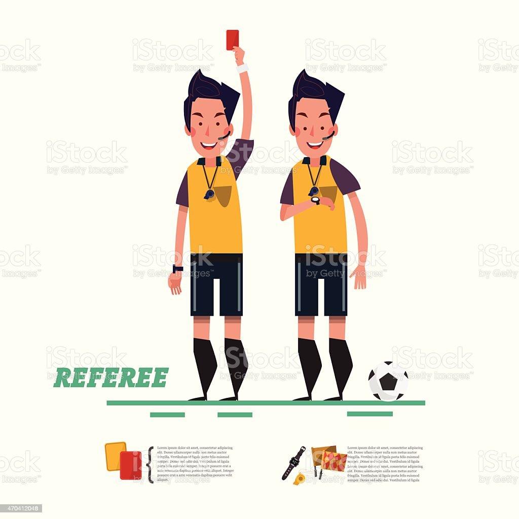 soccer referee character. referree - vector illustration vector art illustration
