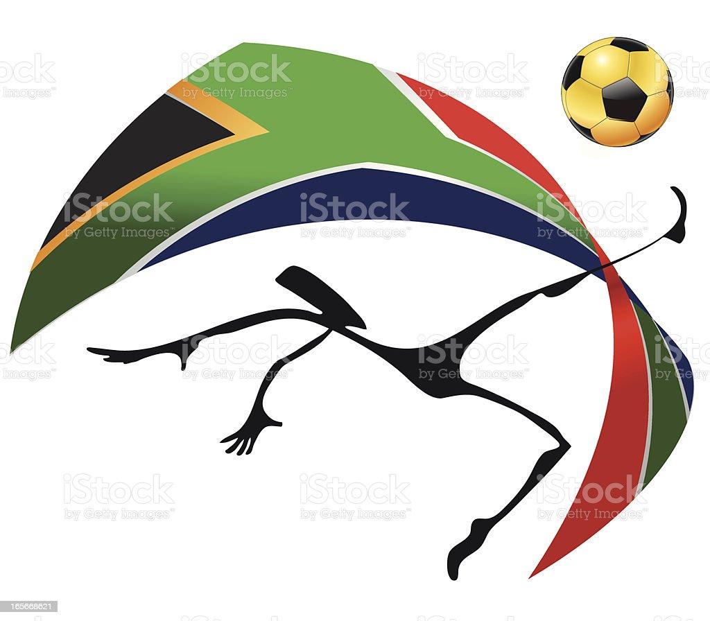 Soccer RSA 2010 vector art illustration