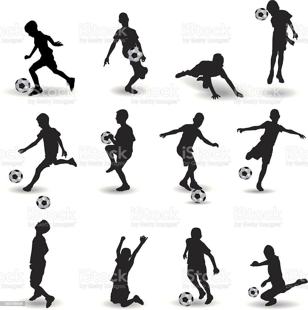 Soccer school vector art illustration