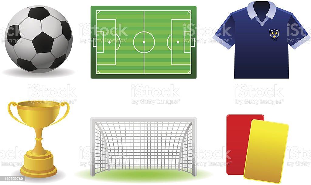 Soccer Set royalty-free stock vector art