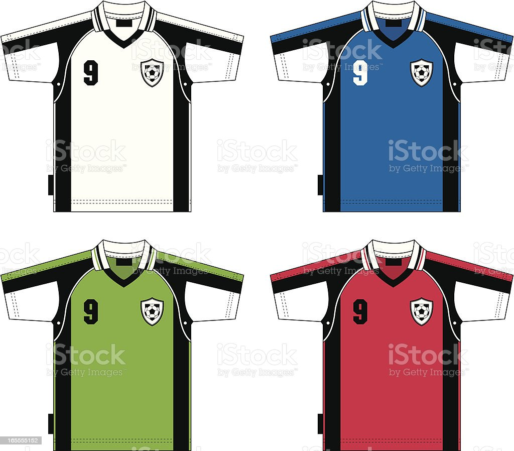 Soccer Shirt with Badge royalty-free stock vector art