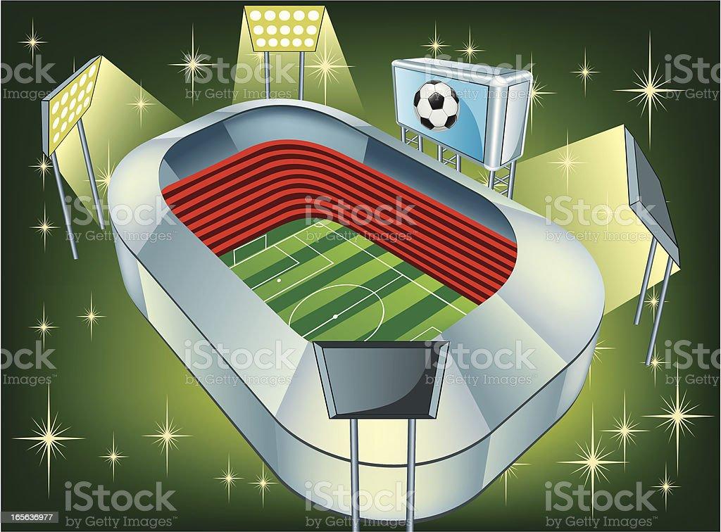 Soccer stadium royalty-free stock vector art