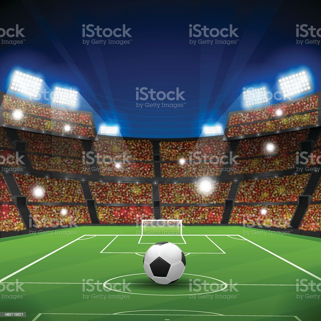 Soccer Stadium royalty-free stock vector art