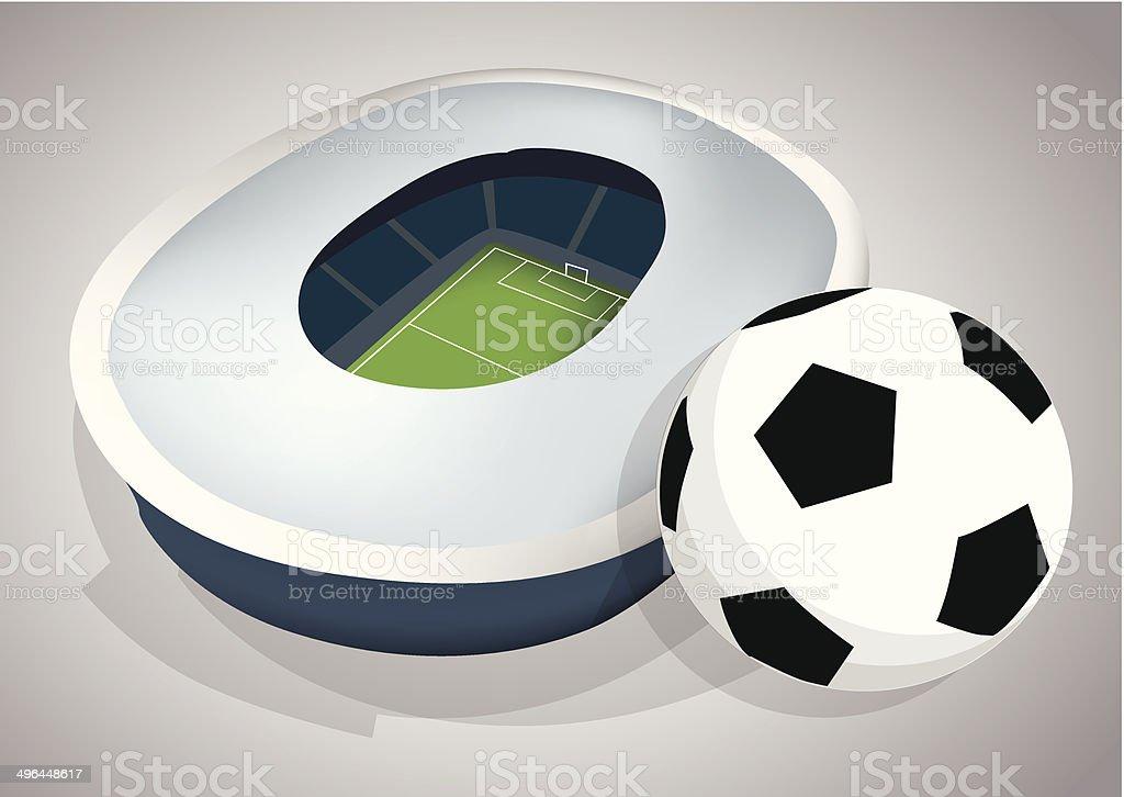 Stade de football stock vecteur libres de droits libre de droits
