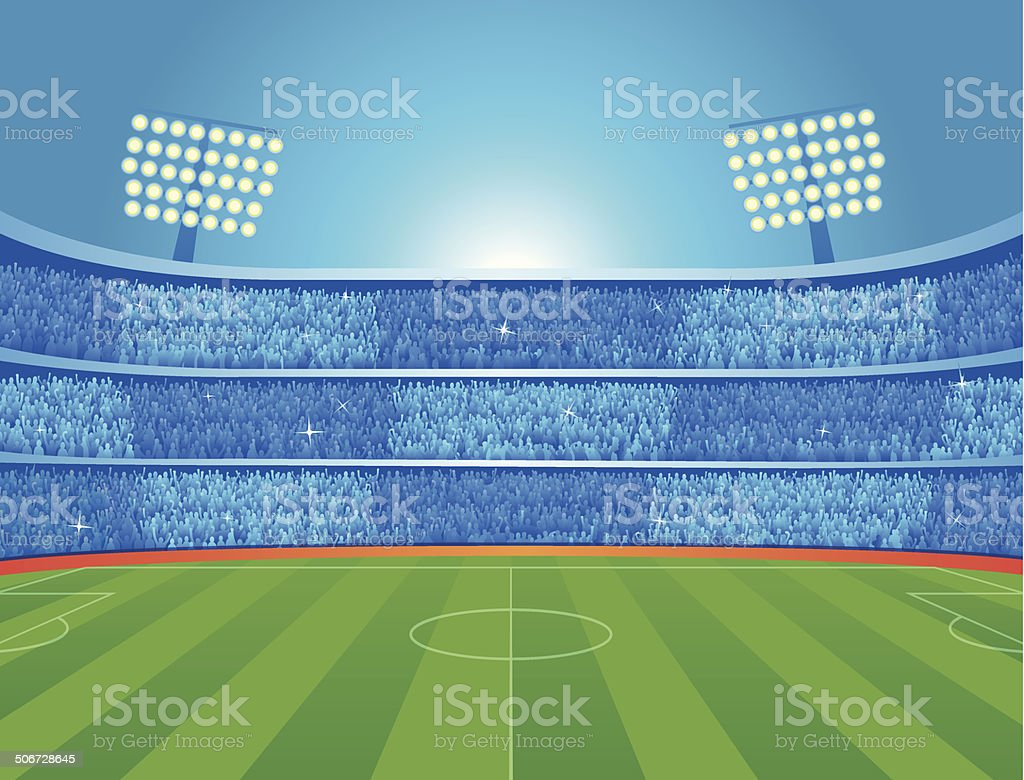 Soccer stadium vector art illustration