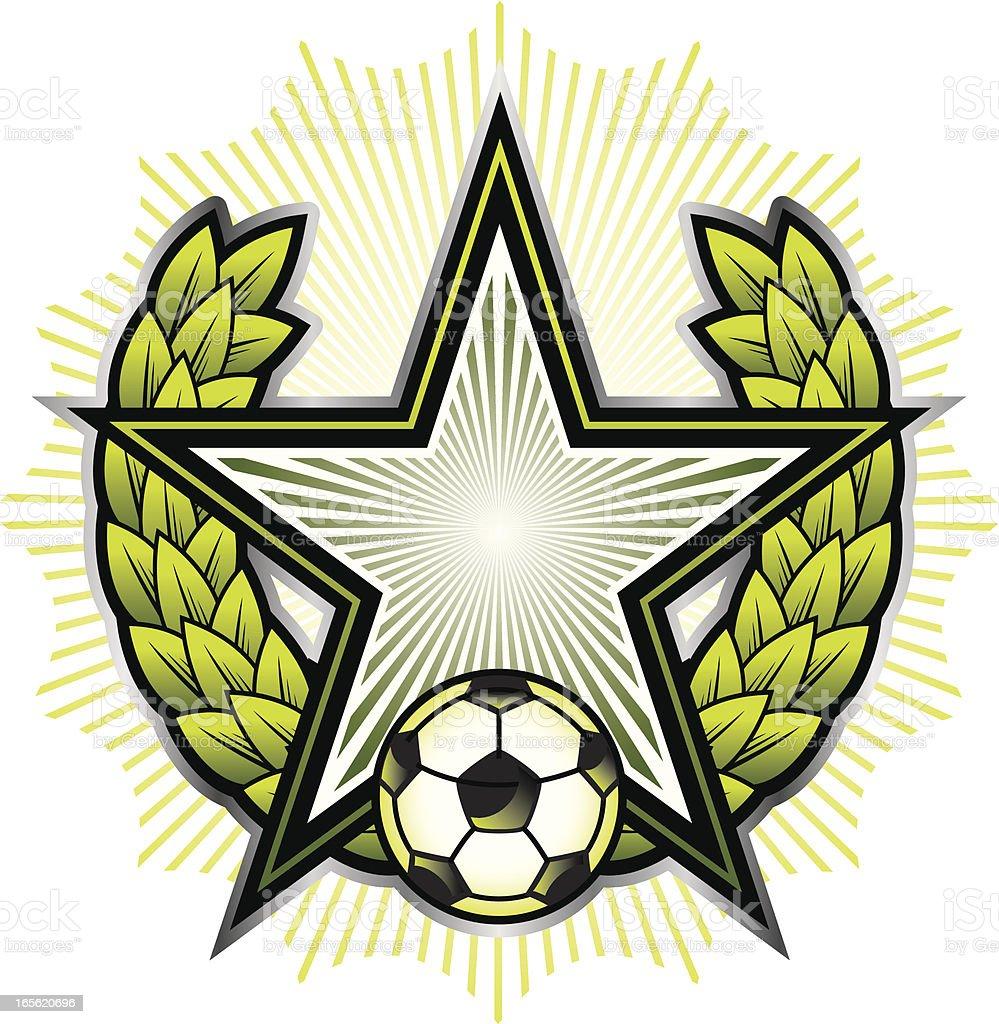 Soccer star royalty-free stock vector art