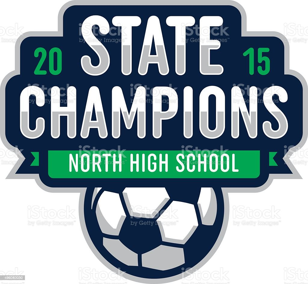Soccer State Champions vector art illustration