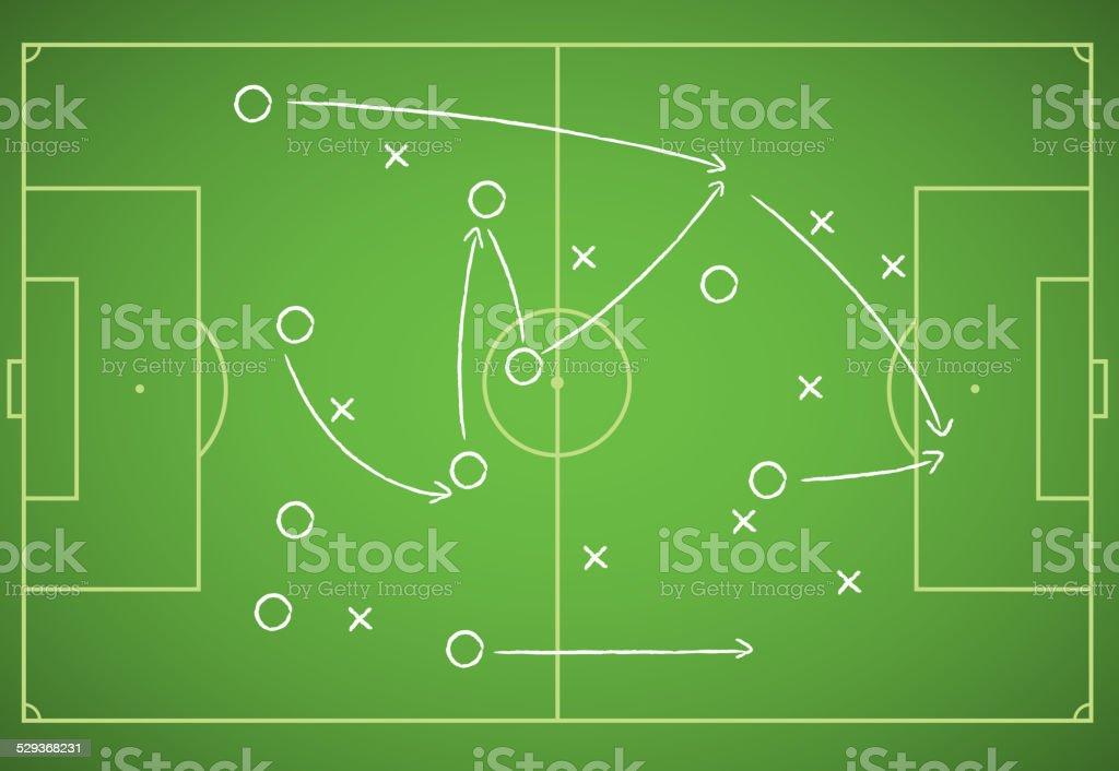 Soccer strategy vector art illustration