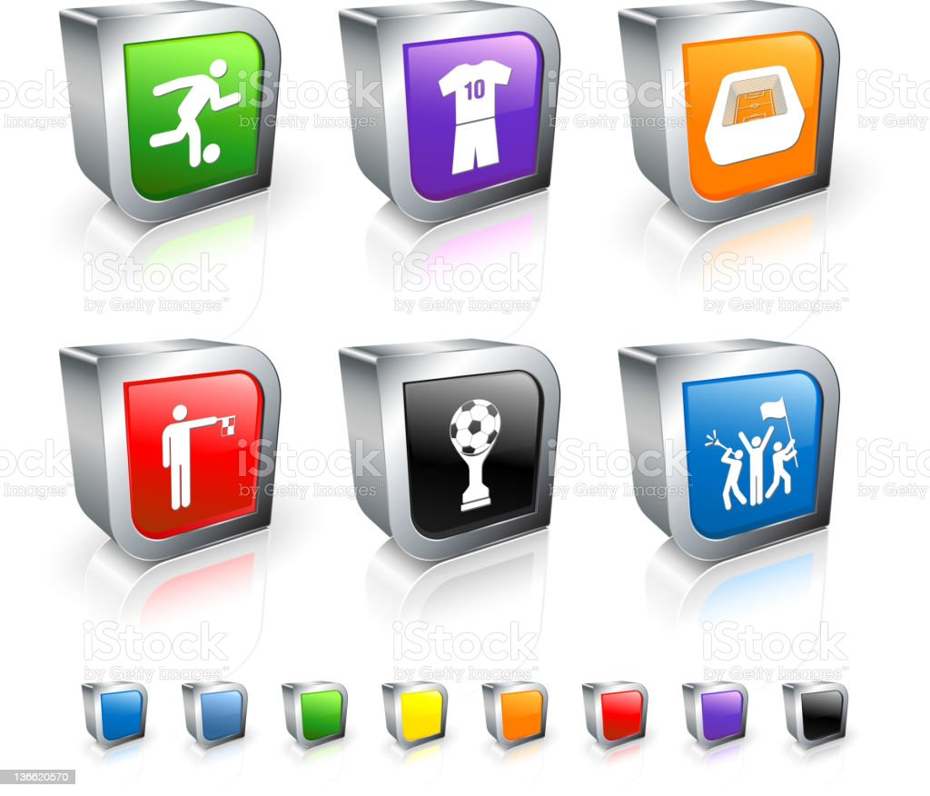 soccer symbols royalty free vector icon set royalty-free stock vector art