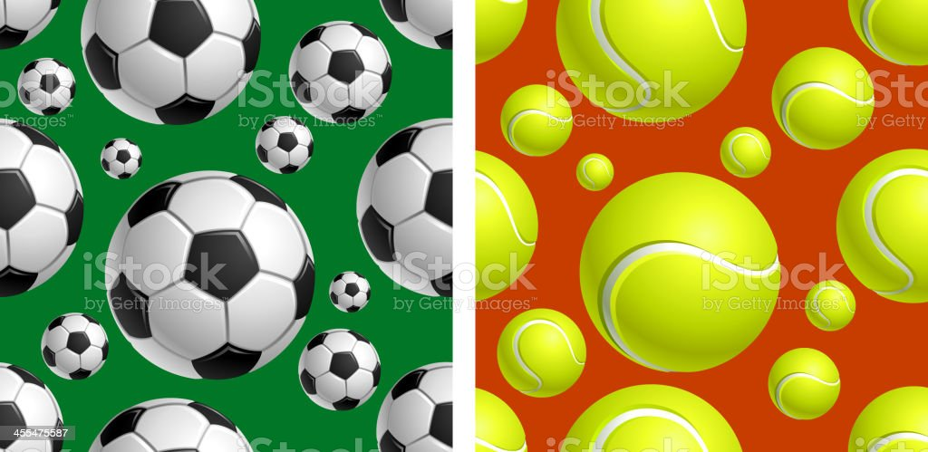 Soccer Tennis pattern royalty-free stock vector art