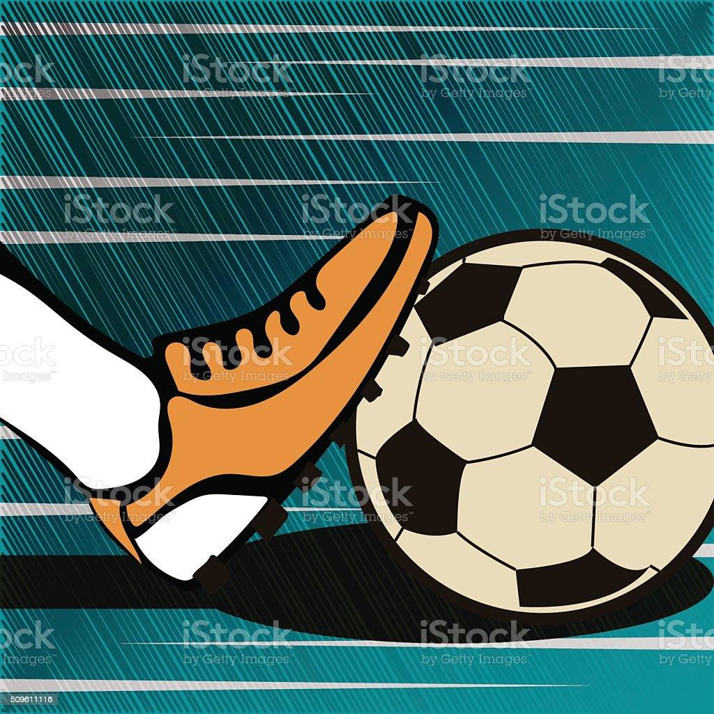 Soccer typographical vintage grunge style poster vector art illustration