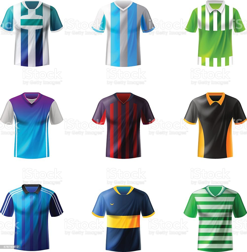 Soccer uniform vector art illustration