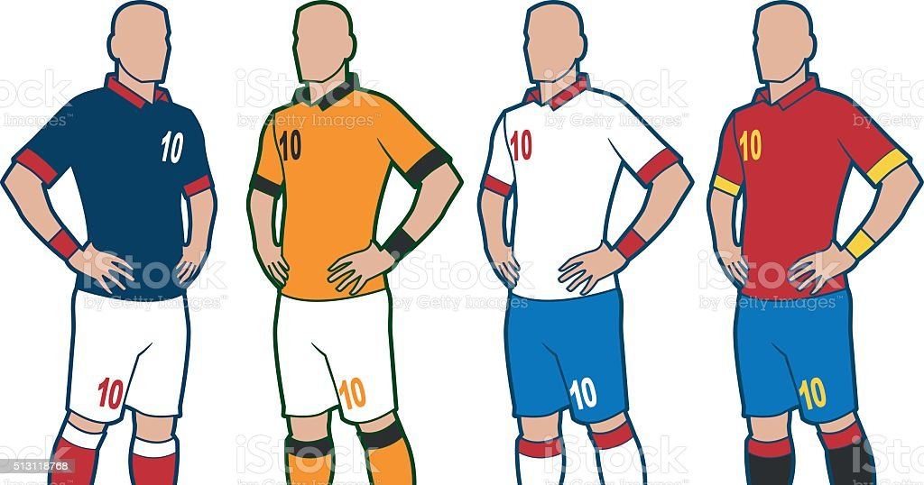 Soccer Uniforms vector art illustration